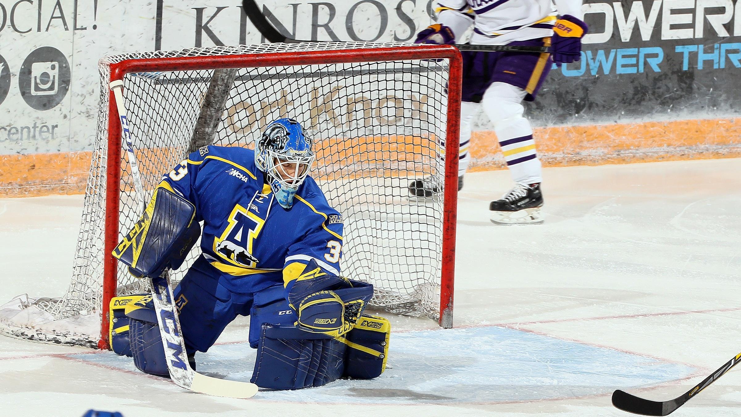 Anton Martinsson shut down Alaska Anchorage with his second shutout of the season.