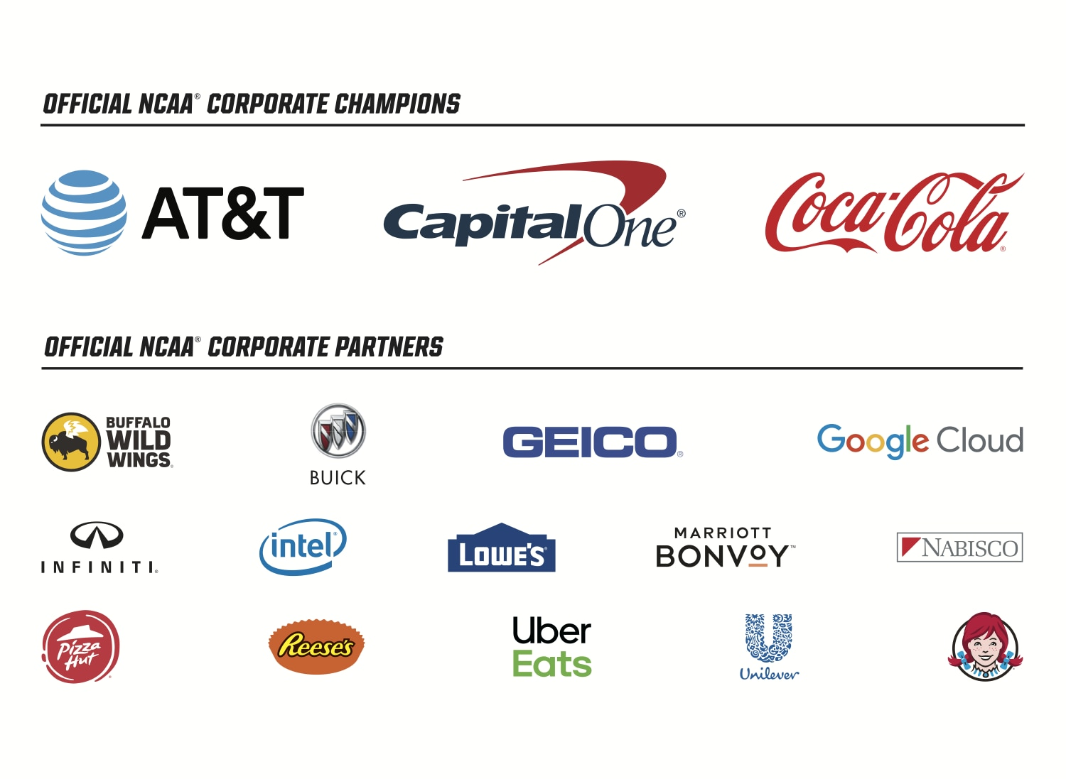 Nescas Updated List Of Special >> Ncaa Corporate Champions And Partners Ncaa Com
