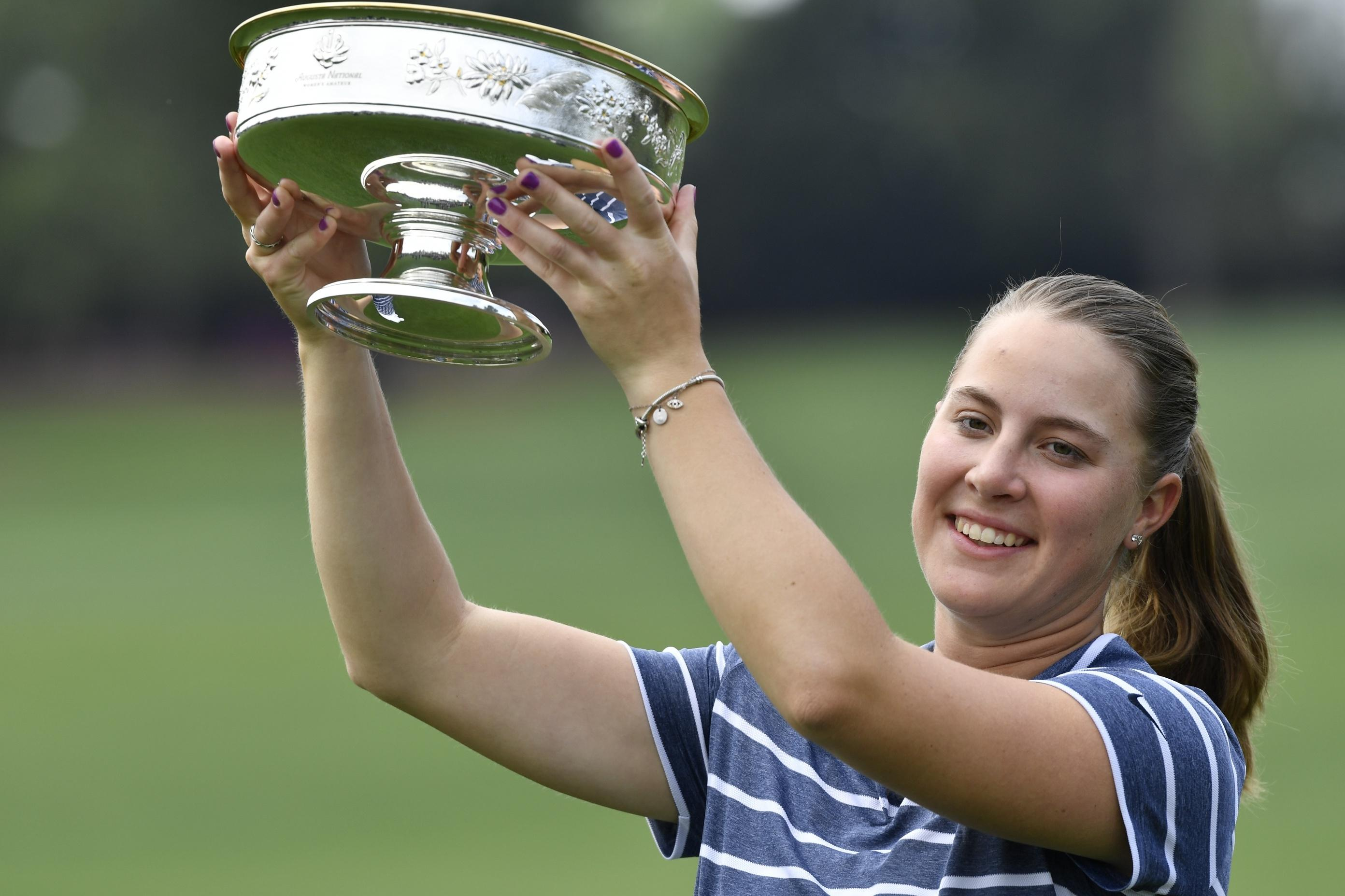 NCAA champion Jennifer Kupcho wins Augusta National Women's Amateur.