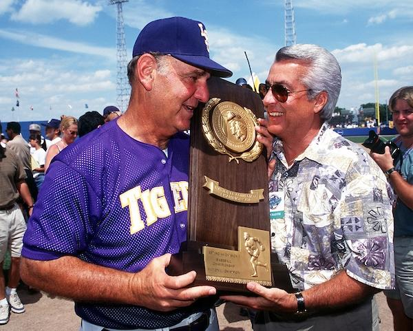 Skip Bertman won five College World Series titles.