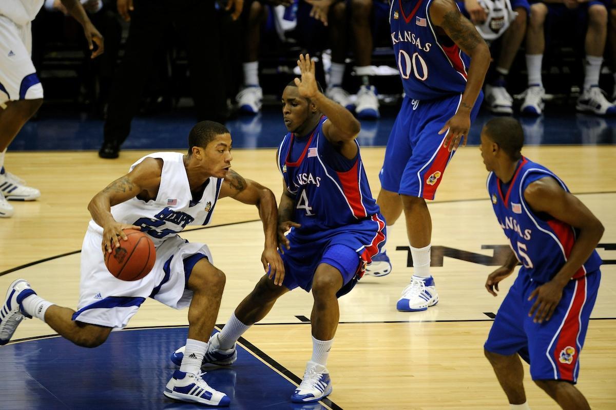Derrick Rose with Memphis.