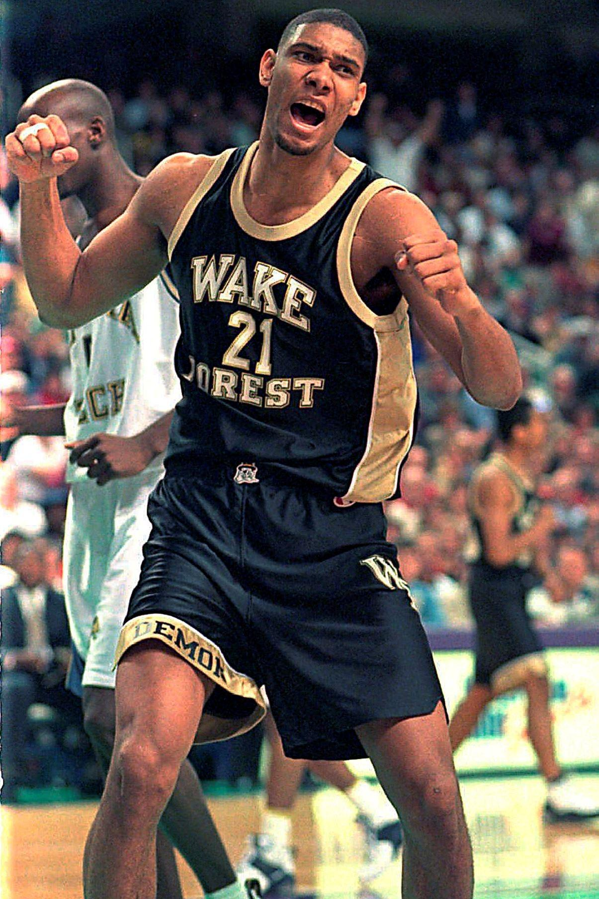 Tim Duncan at Wake Forest.