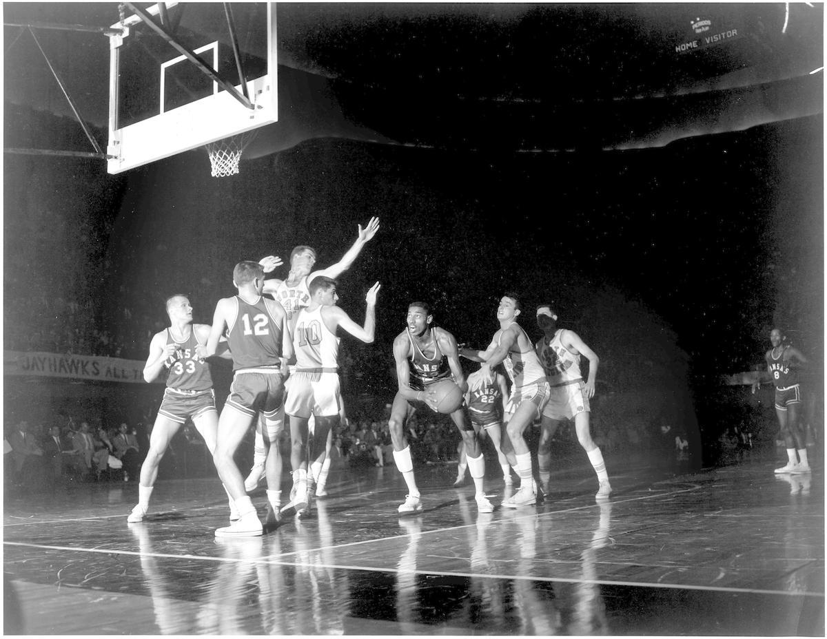 Wilt Chamberlain at Kansas.