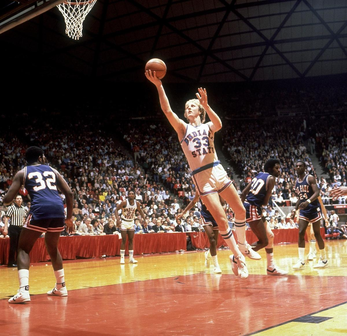 Larry Bird at Indiana State.