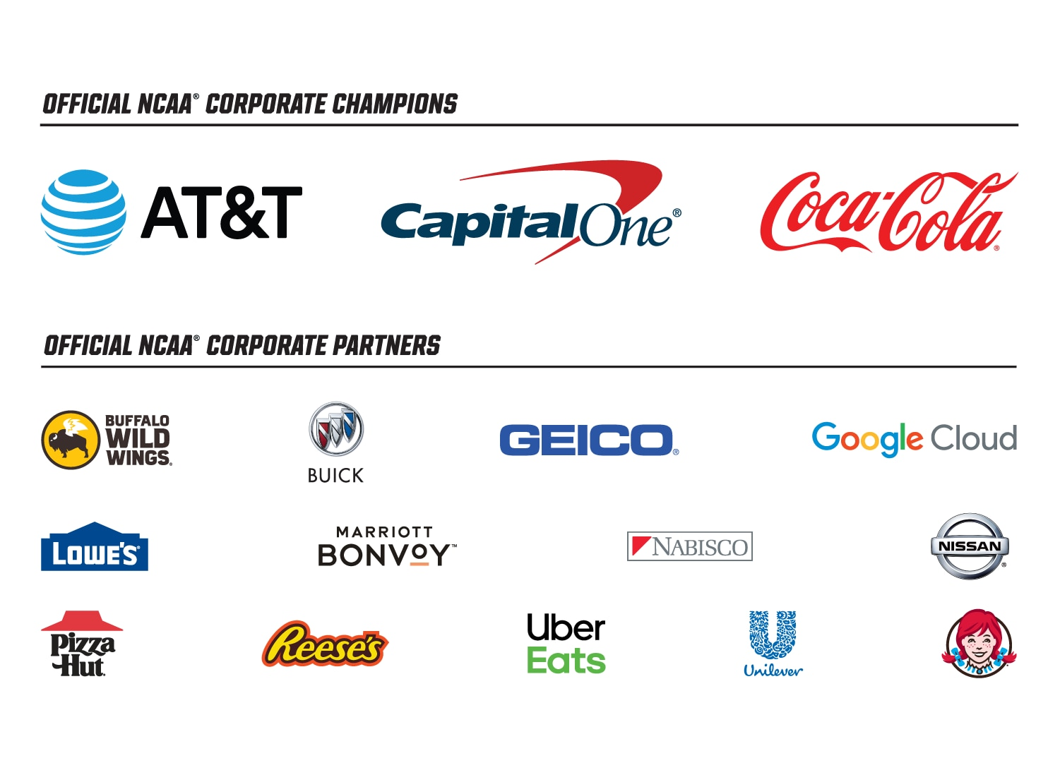 The View Sponsors List 2020.Ncaa Corporate Champions And Partners Ncaa Com