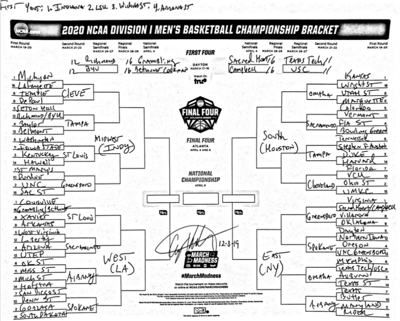 Ncaa Men S Basketball Bracket Projected About 100 Days From