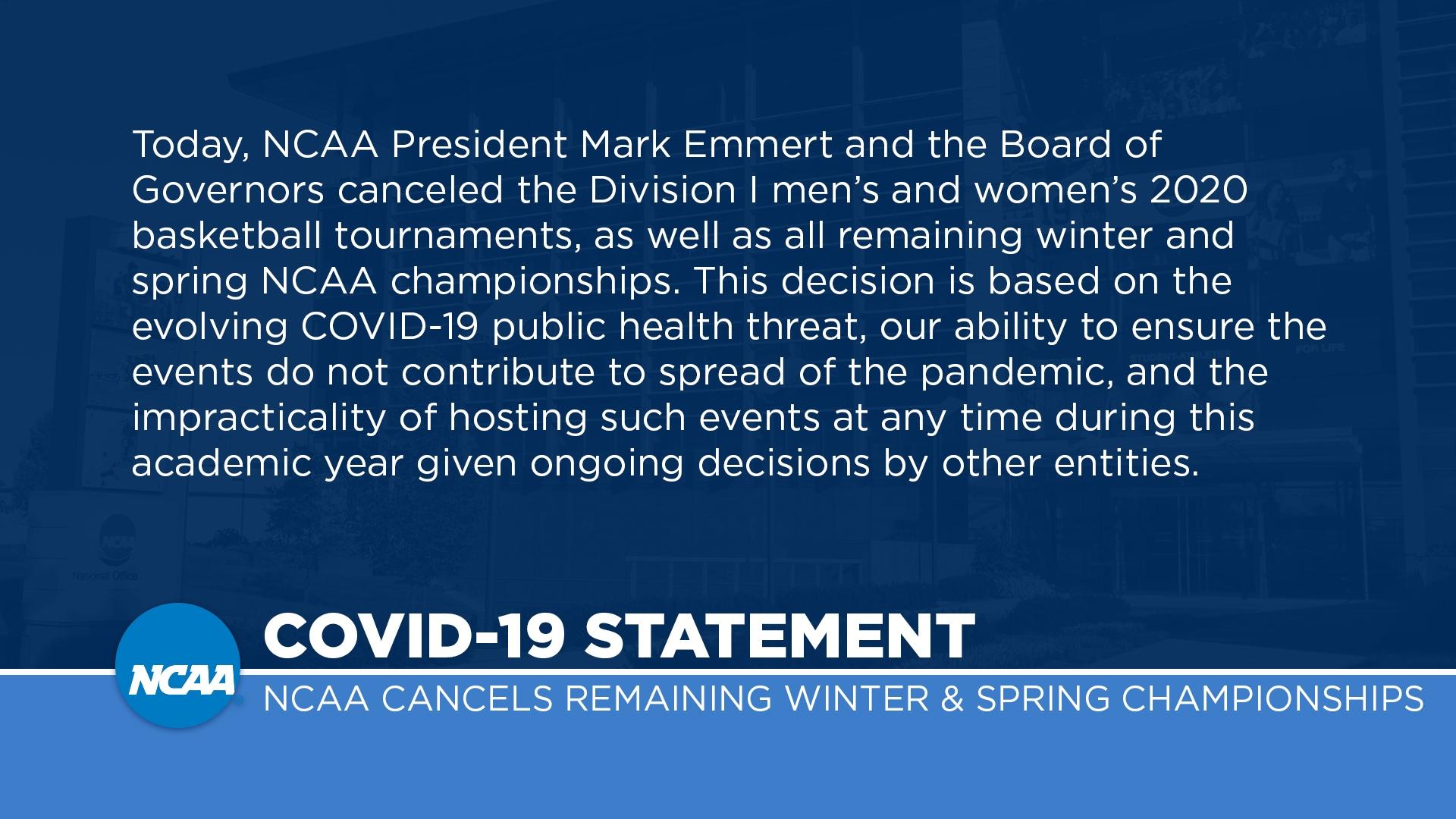 The 2020 DII women's basketball championship canceled due to ...