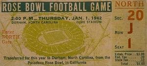 1942 Rose Bowl ticket