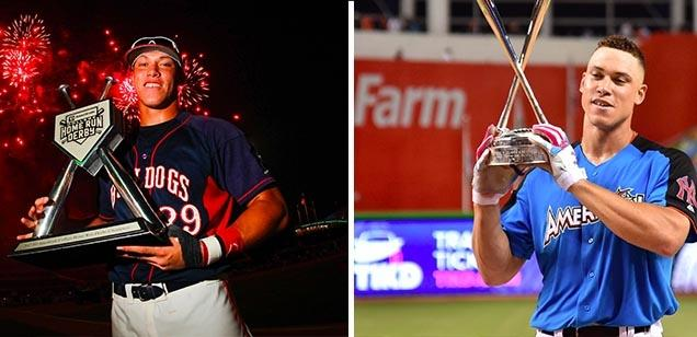 4a93c59f7 Aaron Judge transformed from 2012 College HR Derby winner to 2017 MLB HR  Derby winner and All-Star.