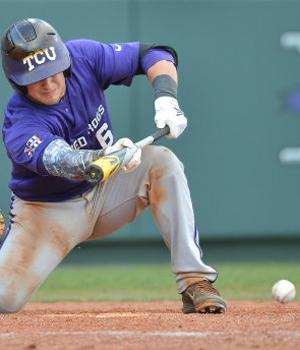 Kyle Bacak lays down the suicide squeeze.