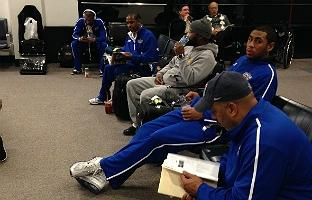 Coppin State waits in airport