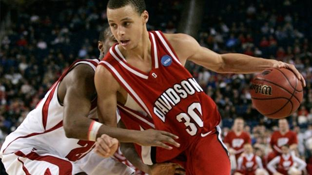 newest 18ea1 c98a9 Stephen Curry's Davidson jersey won't be retired - yet ...