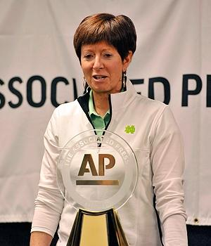 Notre Dame's Muffet McGraw is the AP coach of the year.
