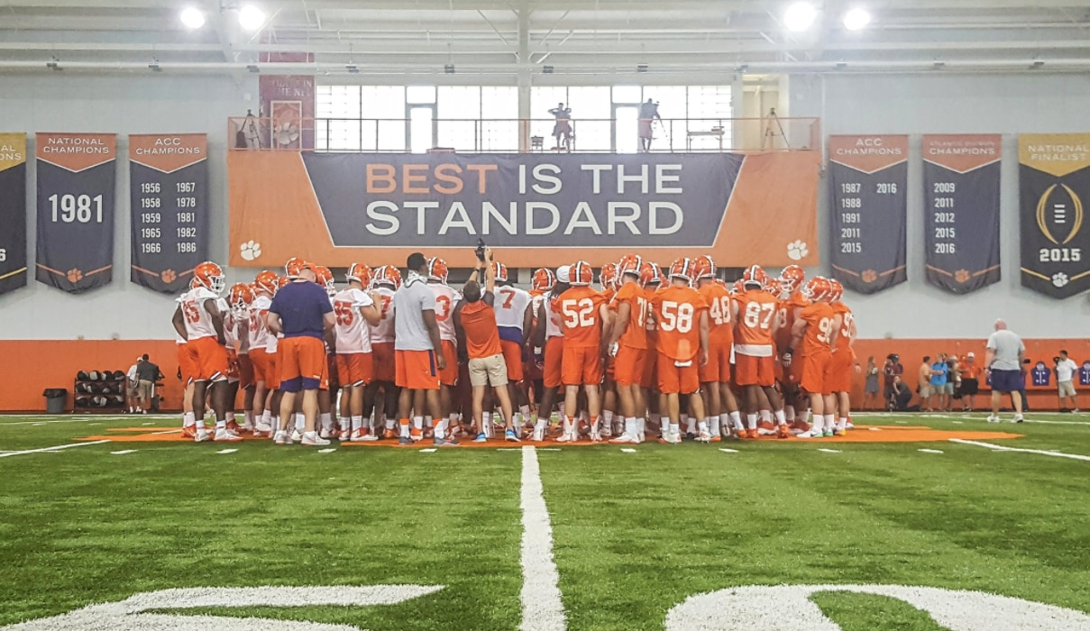 56f116bd3b6a Clemson begins summer camp with eye on title defense | NCAA.com
