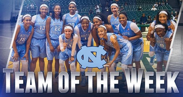North Carolina tabbed Team of the Week
