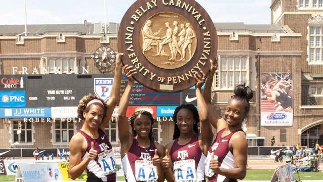 Texas A&M women's 400-meter relay team