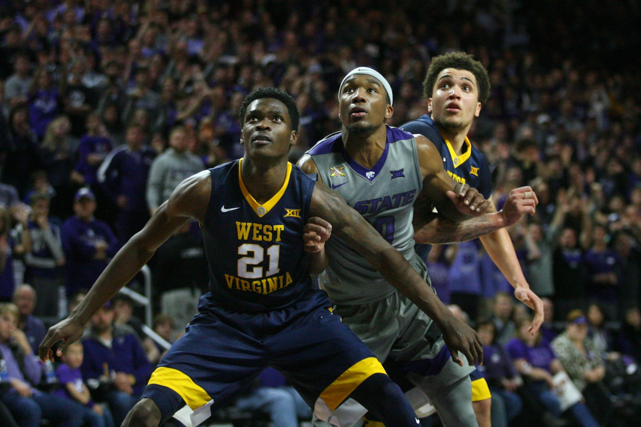 more photos 8b486 9565e West Virginia jumped into the Top 10 after defeating Kansas State 77-69  Sunday evening.