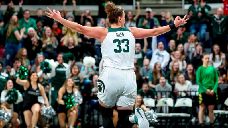 Michigan State is the NCAA women's basketball team of the week