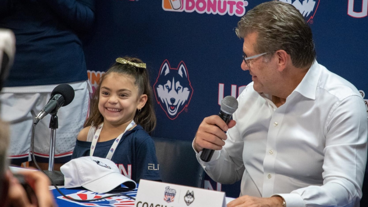 Women's basketball: UConn helps girl with rare genetic disorder bond with the Huskies