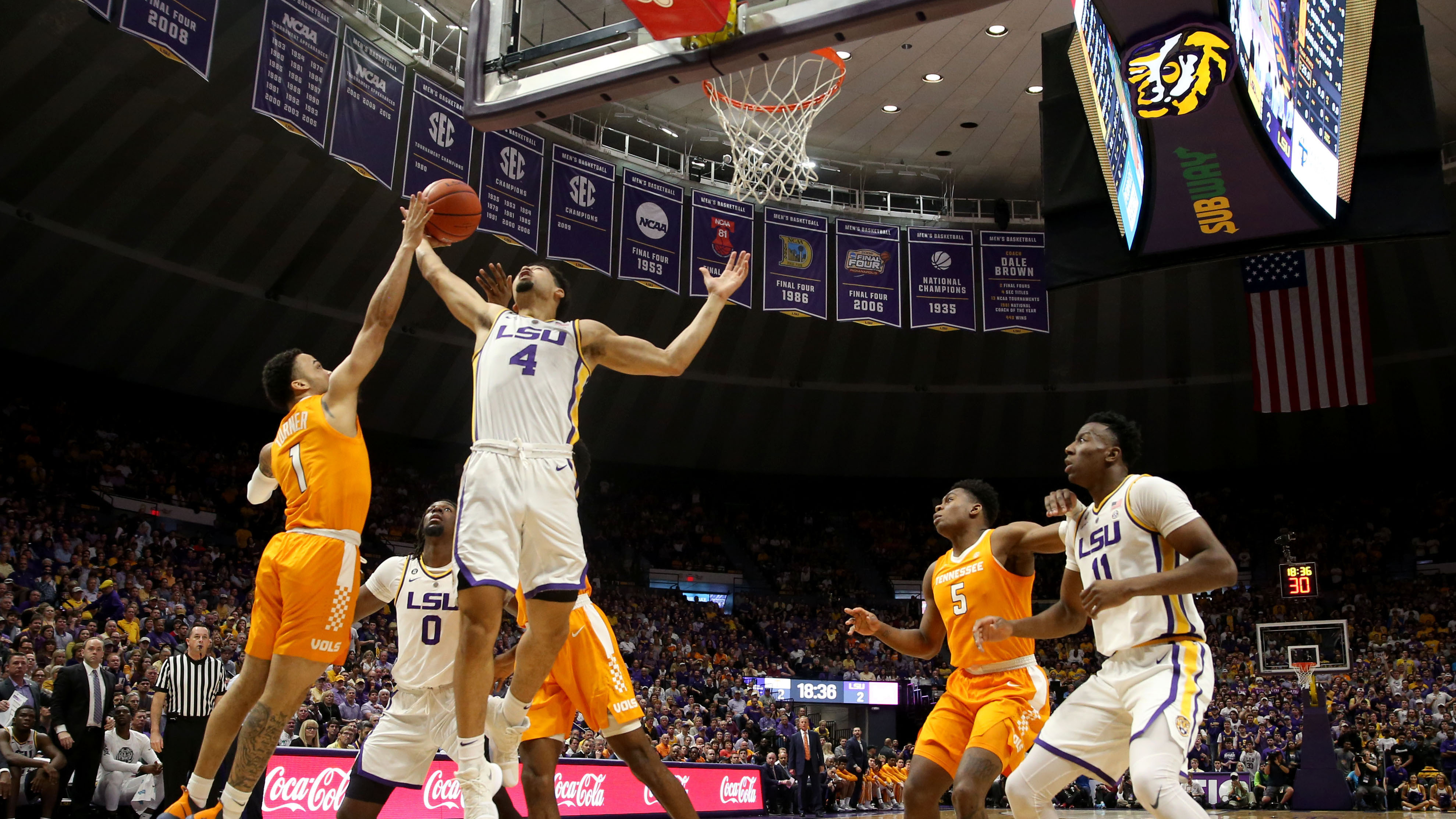 best sneakers f354e 758c5 13 LSU knocks off No. 5 Tennessee in overtime, 82-80   NCAA.com
