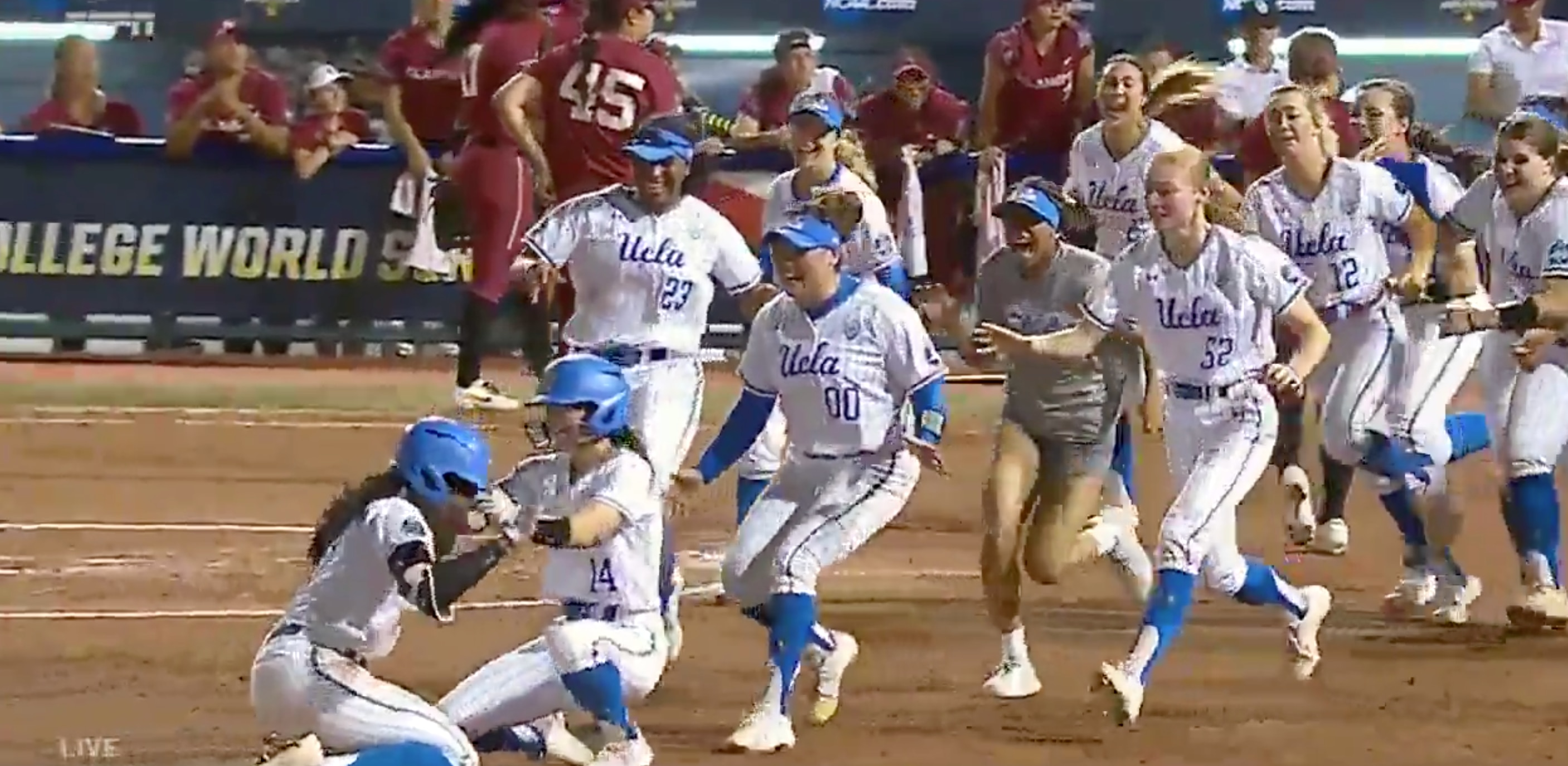 Watch UCLA's walk-off single to clinch the 2019 Women's College World  Series title