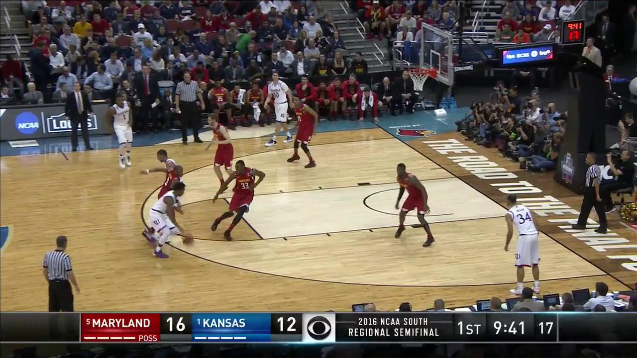 Maryland vs  Kansas: Jake Layman dunk