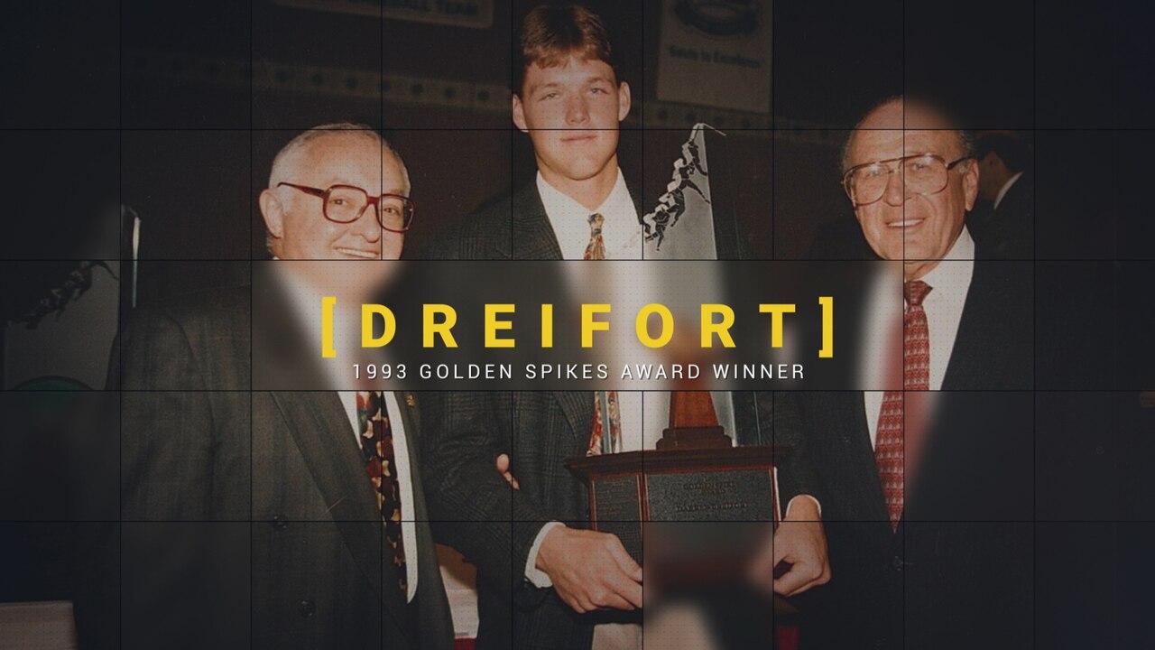 College Baseball: 1993 Golden Spikes Award winner Darren Dreifort from  Wichita State
