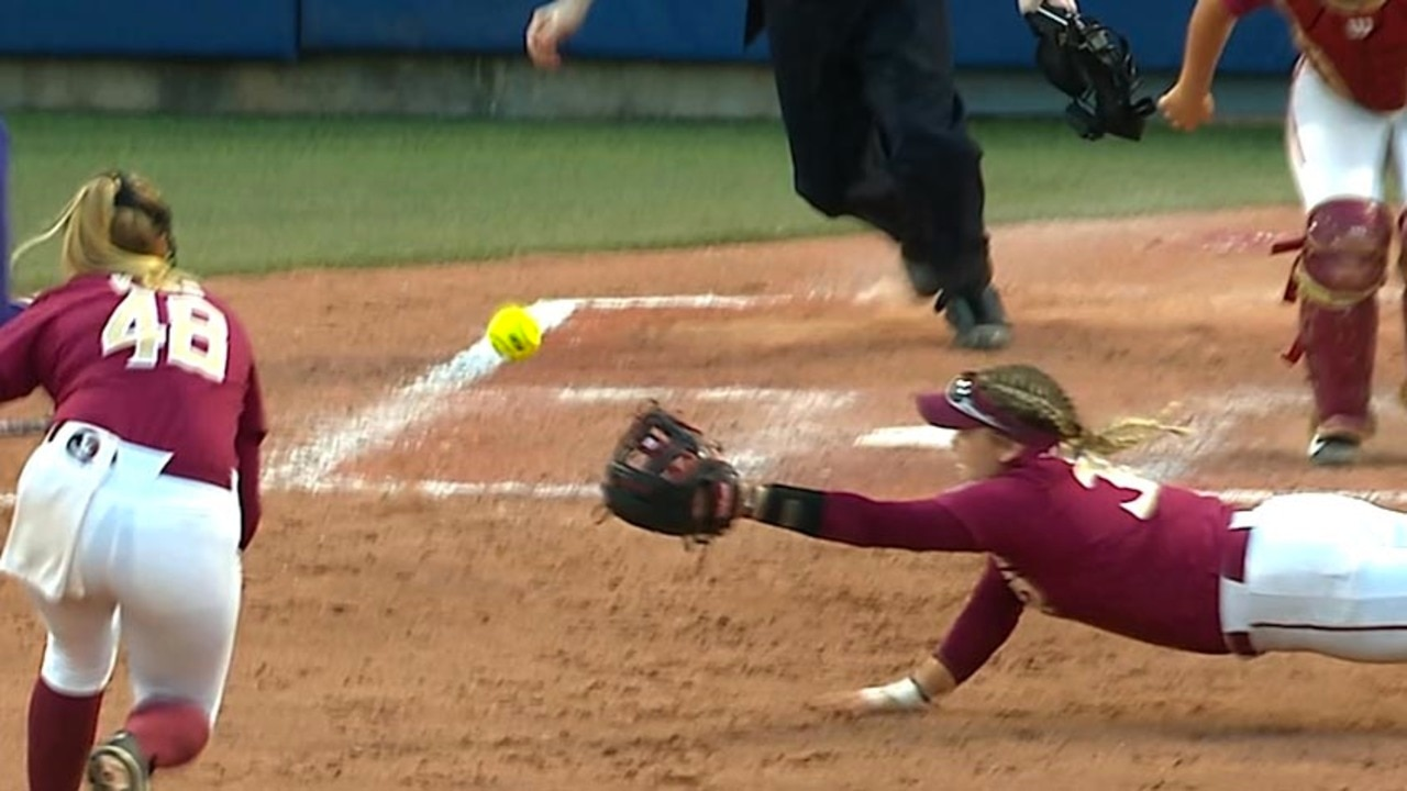 Top Catches of the 2018 Women's College World Series | NCAA com