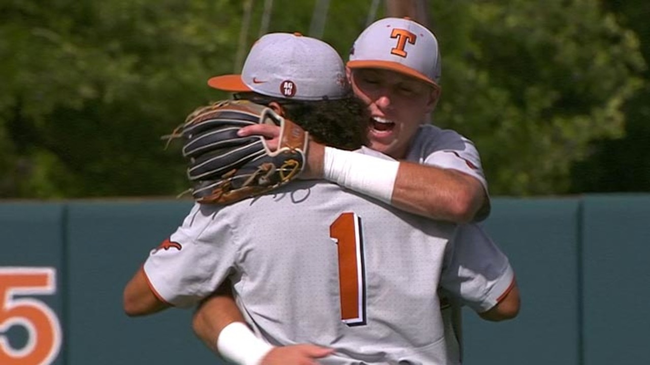 Watch the highlights from Game 2 of the Super Regional: Texas vs Tennessee  Tech