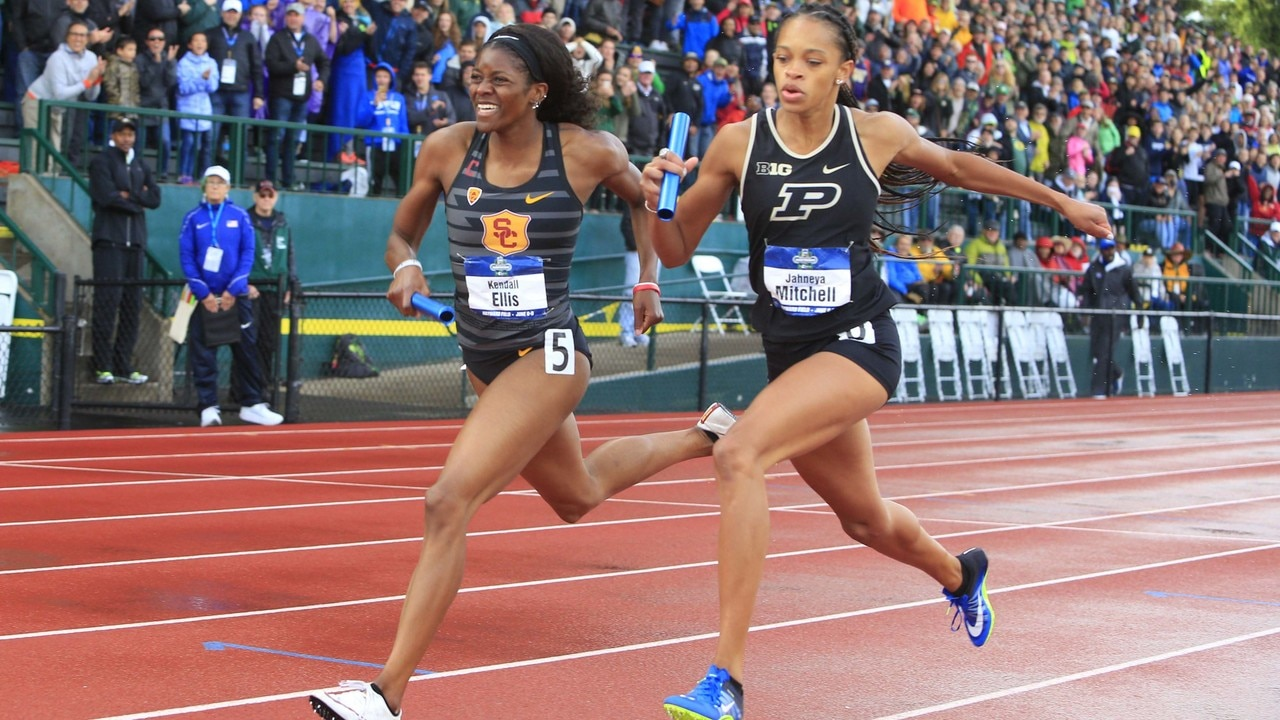 Watch the stunning finish to USC's improbable NCAA track championship