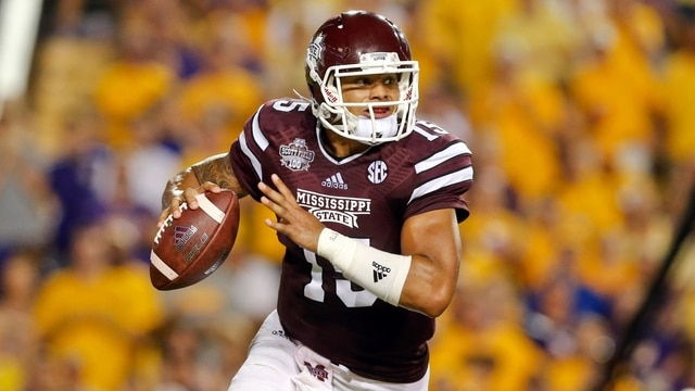 timeless design e7de2 5722b Dak Prescott's performance against Texas A&M lands him squarely in the  Heisman discussion